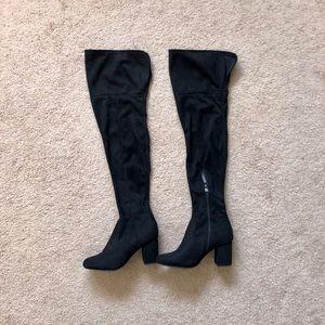 Wild Diva Thigh High Black Boots